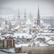 Snowy Rooftops in Budapest — Stock Photo