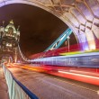 Traffic on Tower Bridge at Night — Stock Photo