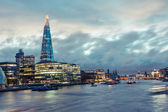 London Skyline with Shard Skyscraper at Twilight — Stock Photo