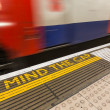 Mind the Gap Writing into London Underground — Stock Photo