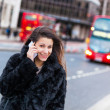 Young Woman on the Phone in London City — ストック写真