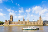 House of Parliament and Big Ben in London — Stock Photo