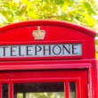 Stock Photo: Traditional Red Phone Booth in London