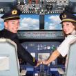 Pilots in the Cockpit — Stock Photo
