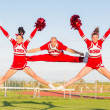 Group of Cheerleaders in the Field — Stock Photo #34950521