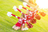 Group of Cheerleaders in the Field — Stock Photo