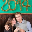 Young Couple Celebrating New Year — Stockfoto