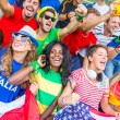 Supporters from Multiple Countries at Stadium All Together — Stock Photo