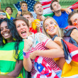 Supporters from Multiple Countries at Stadium All Together — Stock Photo #35013051