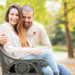 Lovely Couple at Hyde Park in London — Stock Photo