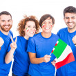 Group of Italian Supporters — Stock Photo