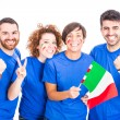 Group of Italian Supporters — Stock Photo #35880875