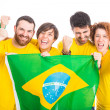 Group of Brazilian Supporters — Stock Photo