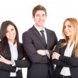 Young Business Team on White Background — Stock Photo