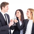 Stock Photo: Business Team Toasting