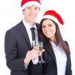 Business Team Toasting for Christmas — Stock Photo