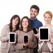 Stock Photo: Group of Friends with Digital Devices