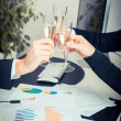 Business Team Toasting at Office — Stock Photo