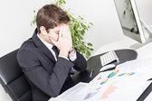 Destacó el joven empresario en oficina — Foto de Stock