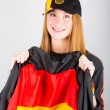 Young German Female Supporter — Stock Photo #37004643