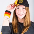 Young German Female Supporter — Stock Photo