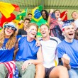 Supporters from Multiple Countries at Stadium All Together — Stock Photo #37311169
