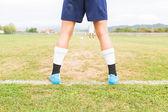 пенальти футбола — Стоковое фото