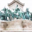 Heroes Square in Budapest with Snow — Stock Photo #37956447
