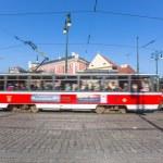 spårvagn i Prag — Stockfoto