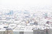 Snow Covered Houses in Budapest — Foto Stock