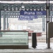 Prague Train Station during Snowfall — Stock Photo #37967075