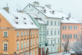Snow Covered Houses in Prague — Stock Photo