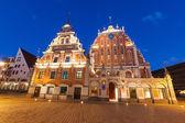 Blackheads House in Riga at Night — Stock Photo