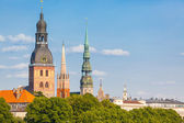 Riga Skyline on a Sunny Day — Foto Stock
