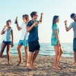Group of Friends Having Party on Beach — Stock Photo #38169555