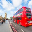 Stock Photo: Big Ben and Red Double-Decker Bus
