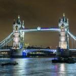 Tower Bridge at Night — Stock Photo