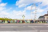 London Cityscape with Millennium Wheel — Stock Photo