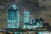 City of London, Night View — Stock Photo