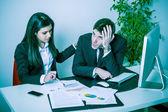 Sad Business Man at Office — Stock Photo