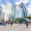 Commuters in Canary Wharf, London Financial District — Stock Photo #38569329