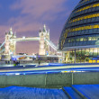 Tower Bridge and Town hall at Night — Stock Photo #38569669