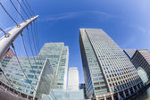 Canary Wharf, Financial District in London — Stock Photo