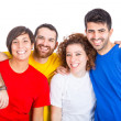 Happy Group of Friends on White Background — Stock Photo #38570119