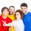 Happy Group of Friends on White Background — Stock Photo #38570193