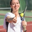 Young Woman Playing Tennis — Stock Photo #39169101