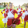 Group of Cheerleaders in the Field — Stock Photo #39170865