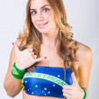 Sexy Brazilian Woman with National Flag — Stock Photo #39516313
