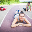 Stock Photo: Group of People doing Stretching Exercises