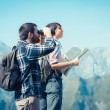 Young Couple at Panoramic View — Stock Photo